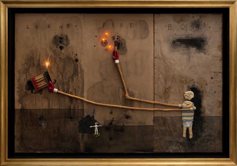 David Lynch, Boy Lights Fire, 2010 Beeld Collection Bonnefantenmuseum