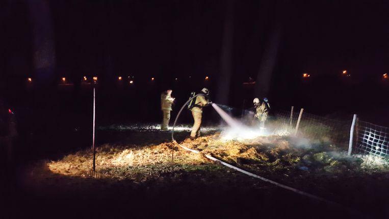 De brandweermannen kregen het brandje snel geblust.
