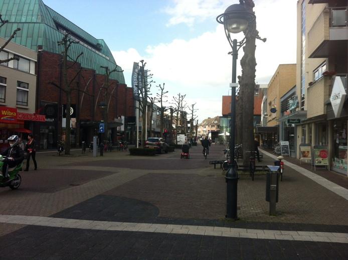 De Marktstraat in Uden gaat in 2017 op de schop. De gemeente heeft er 1,2 miljoen euro voor gereserveerd.