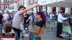 Brugse 'fans' spotten in Madrid met bedelende vrouwen, één van supporters blijkt politie-inspecteur