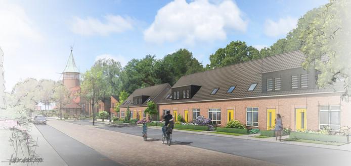 Op de plek van de schoollocatie komen twee blokken met woningen, is het plan.
