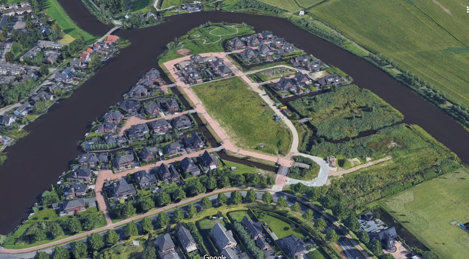 Villawijk Waterhoven vanuit de lucht gezien.