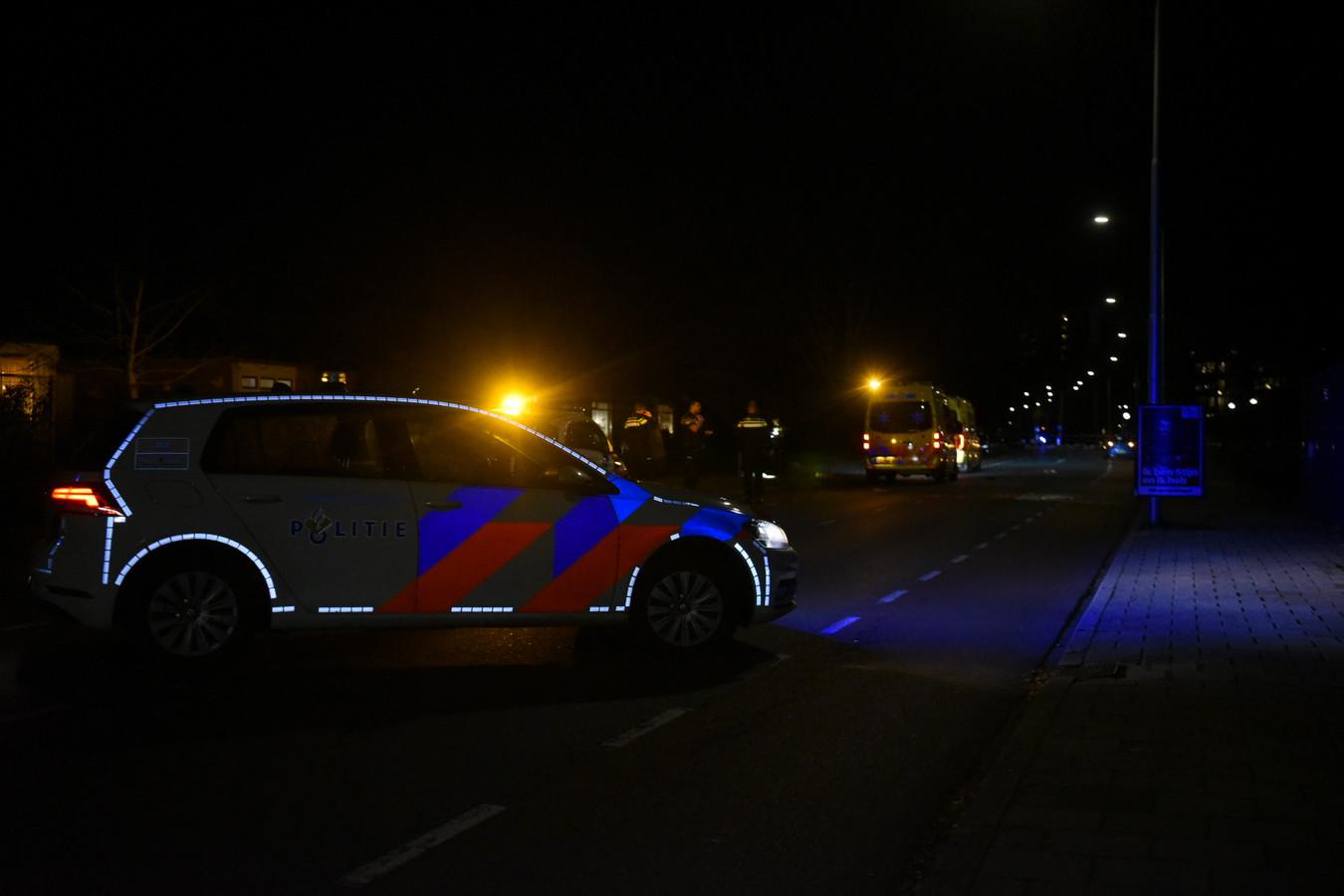 De plek waar het ongeluk gebeurde in Almelo.