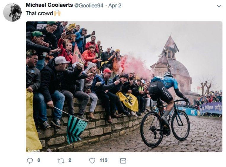 De laatste tweet van Michael Goolaerts.