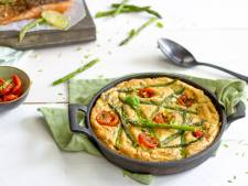 Wat Eten We Vandaag: Aardappelsoufflé met asperges, Parmezaanse kaas en zalm
