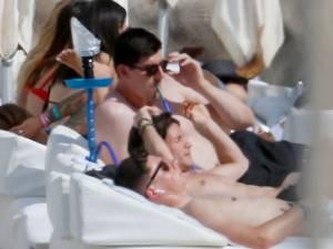 Les vacances de Thibaut Courtois à Ibiza