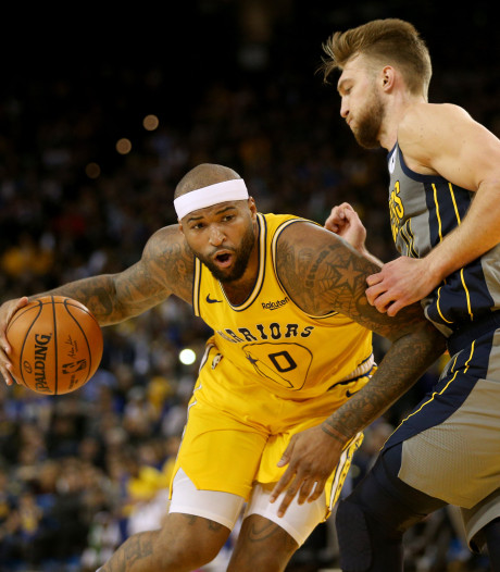 Cousins leidt Warriors langs Pacers