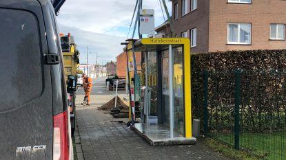 Schuilhuisje halte Huttekensstraat staat nu in Mechelseweg (maar naam is nog niet aangepast)