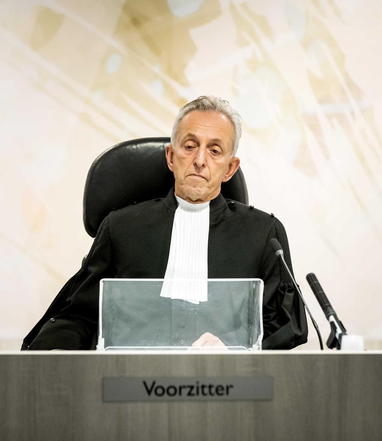 Voorzitter Frank Wieland van de rechtbank in de zwaarbeveiligde Bunker voorafgaand aan de uitspraak in de strafzaak tegen Willem Holleeder.