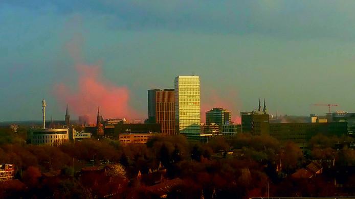 Eindhoven in vuur en vlam tijdens het kampioensfeest van PSV.