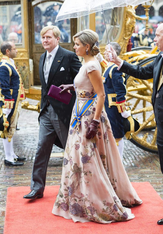 f797eadbf46900 De jurk die M aacute xima in 2015 droeg tijdens Prinsjesdag.