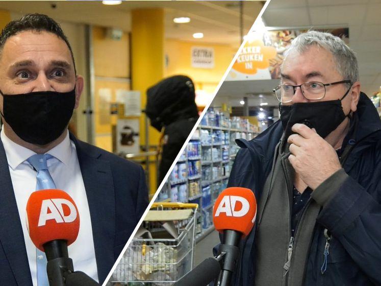 Soepele intrede van mondkapjesplicht in supermarkt Den Haag