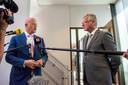 Minister Ferd Grapperhaus (links) ontmoet zijn Belgische collega Pieter De Crem, ze staan maandag gezamenlijk de pers te woord.