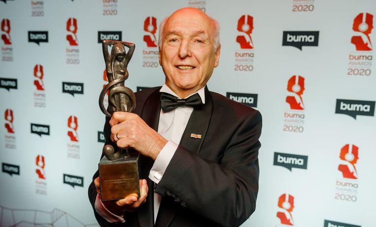 Peter Koelewijn won de Lifetime Achievement Award, tijdens de uitreiking van de Buma Awards in Studio 21. Beeld ANP