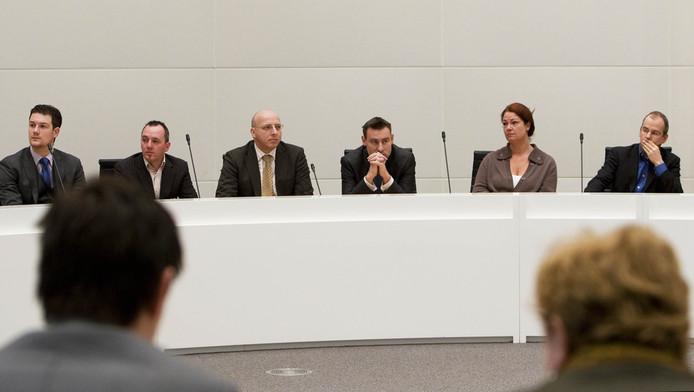 Arnoud van Doorn (rechts) bij de uitslag van de gemeenteraadsverkiezingen eerder. Archieffoto. © ANP