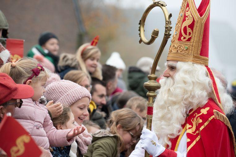 Sinterklaas moet ook zondag voor lachende gezichtjes zorgen.