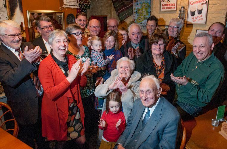 Gustaaf Minnaert bij de viering van zijn 90ste verjaardag.