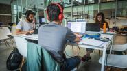 Studenten blokken in 'gezondste kantoor' van Europa