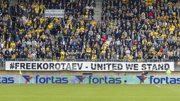 Sfeeractie van de supporters van Roda Beeld anp