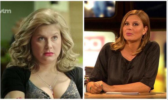 Nathalie Meskens in 'Danni Lowinski' (2012) en in 'Beste kijkers' (2018)