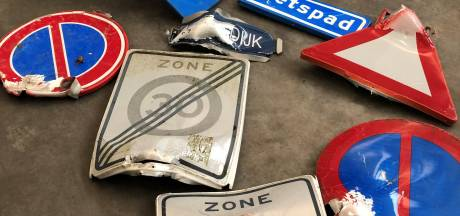 Veel minder aan gort geknald in Deurne: 1 verkeersbord, 5 afvalbakken en 1 blikvanger