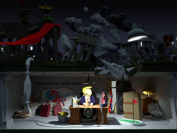 Nederlandse animatoren brengen laatste werkdag Trump in kaart