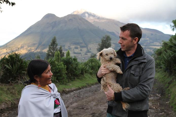 Stef Biemans tijdens de aflevering over Ecuador.