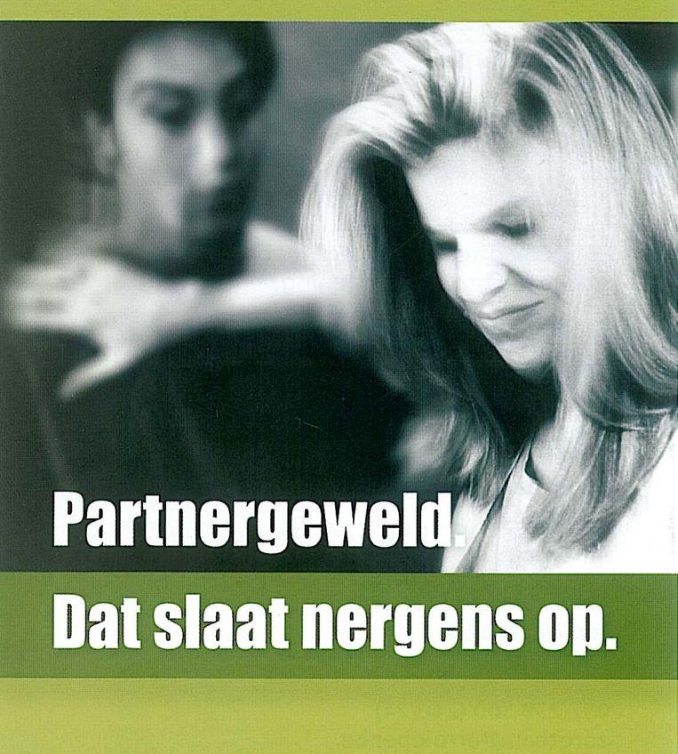 Een beeld van de campagne tegen partnergeweld.