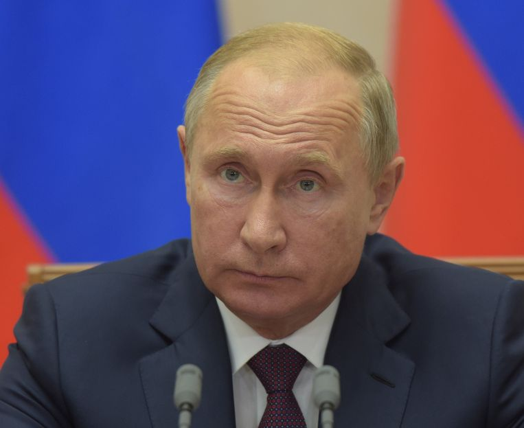 Poetin sprak in de Russische badplaats Sotsji