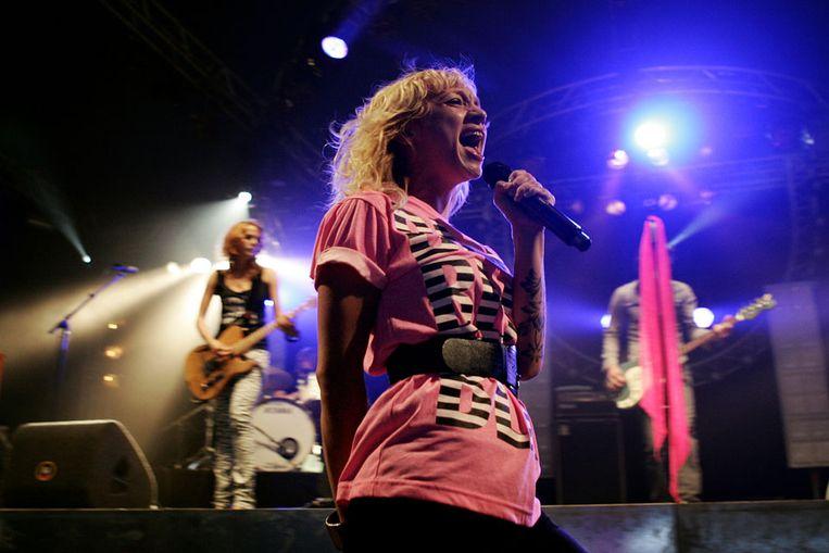 Op Pinkpop 2007 trad Krezip op ter vervanging van Amy Winehouse. (ANP) Beeld