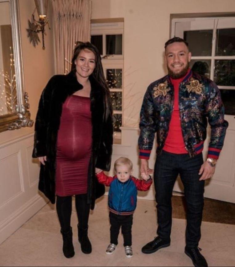 Conor McGregor met gezin.