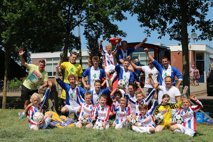 Het winnende team uit Vasse.