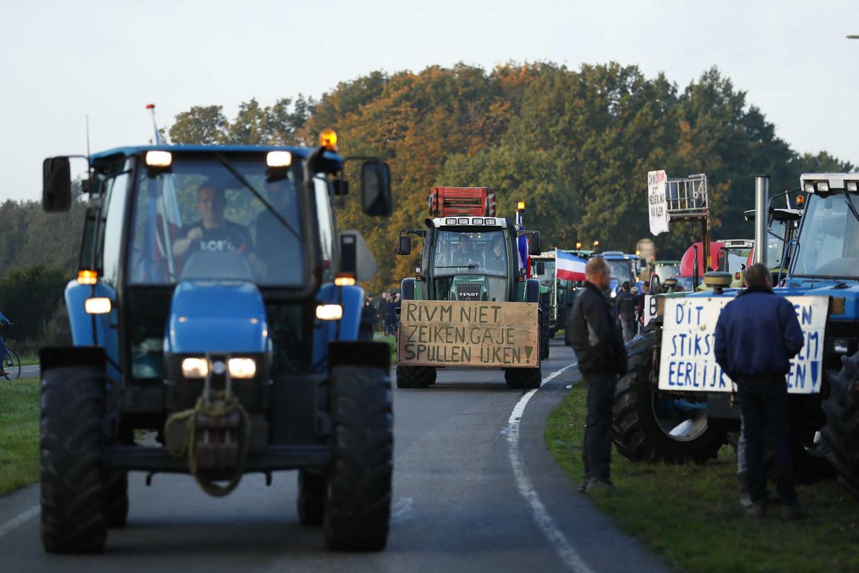 Boeren op weg naar het RIVM, twee weken geleden.
