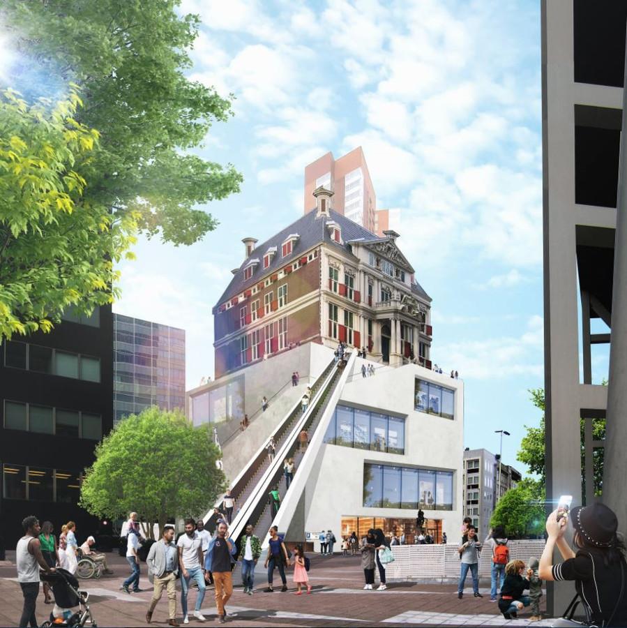 Architect Winy Maas stelt voor op het Schielandhuis flink de hoogte in te tillen.