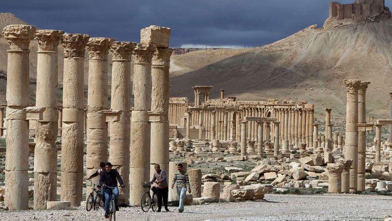 (Archiefbeeld uit 2014) De ruïnestad Palmyra, Syrië. Beeld afp