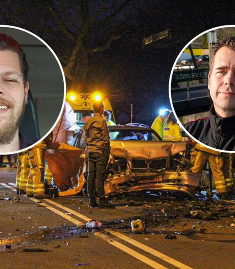 Randy en Henk-Jan schieten te hulp na ernstig ongeluk Loenen: 'Het leek wel een oorlogsgebied'
