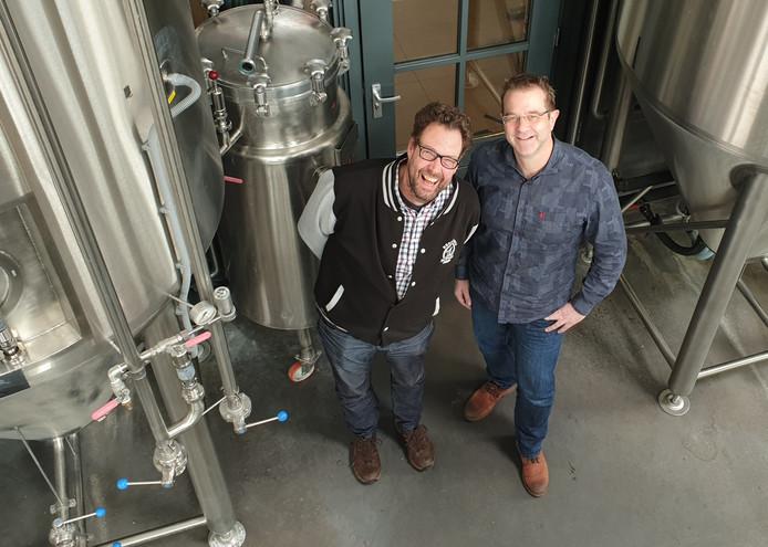 Menno Olivier en John Brus van Brouwerij de Molen.