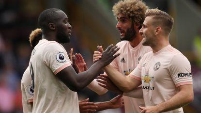 Romelu Lukaku bezorgt Man United met twee goals de zege, rood voor Rashford