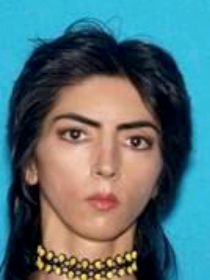 De politie in San Bruno gaf deze foto vrij van Nasim Aghdam.
