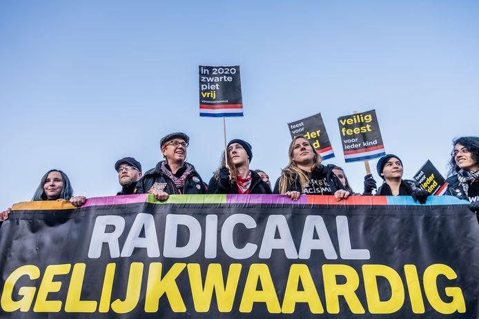 Manifestatie van Kick Out Zwarte Piet in Eindhoven.