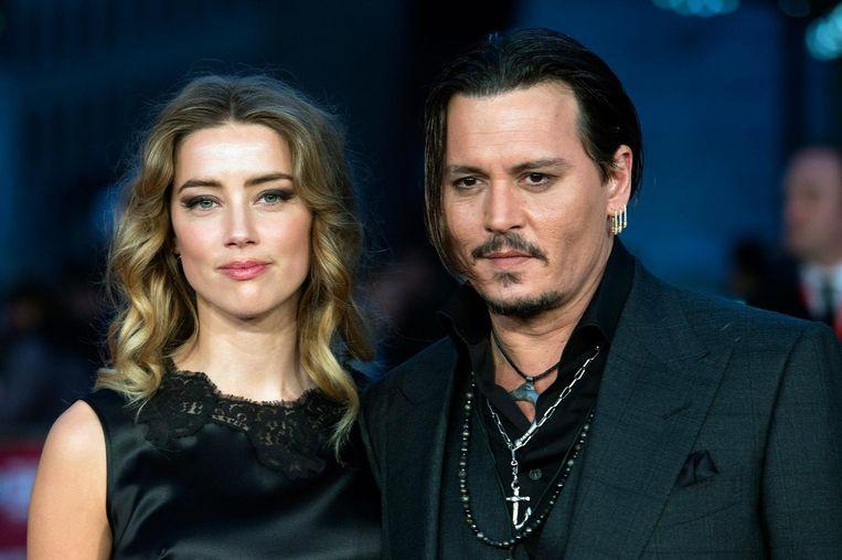 Johnny Depp en zijn ex-vrouw Amber Heard, die de acteur van mishandeling beschuldigde.
