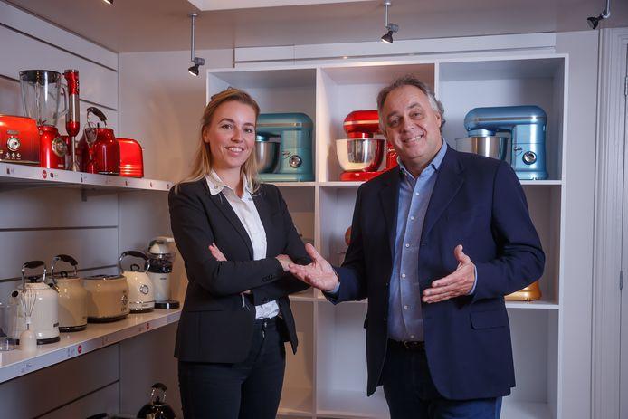 De Bredase ondernemer Aad Ouborg en zijn dochter Nikki.