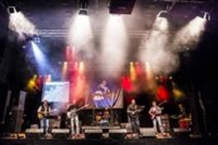 The Chains trad zondag op tijdens Twenterock.