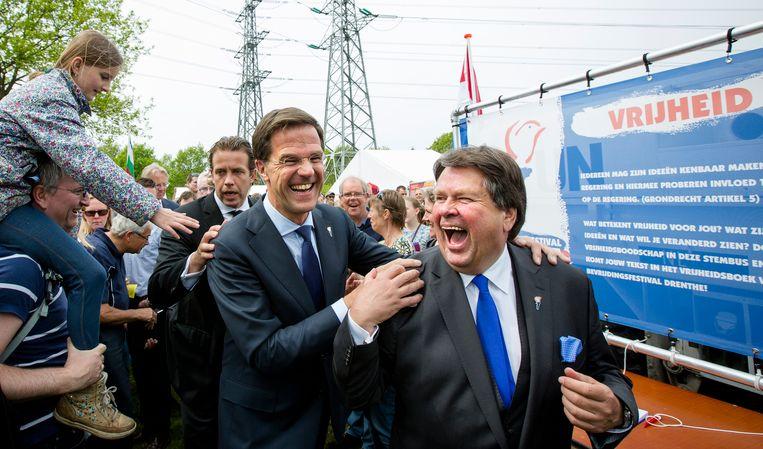 Mark Rutte en commissaris van de Koning Jacques Tichelaar Beeld anp