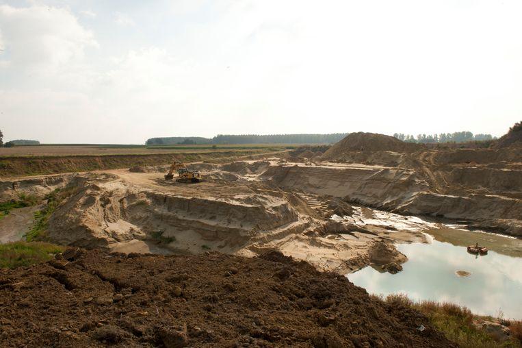 De firma Balegro beheert ook de steengroeves in Balegem.