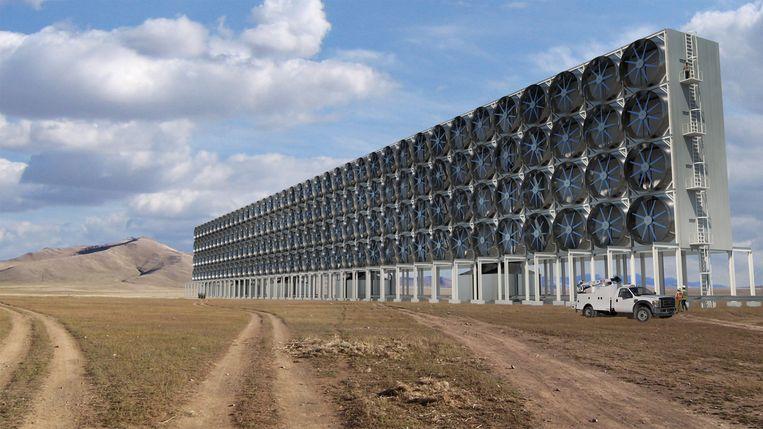 Een idee van het design van de reinigingsmachine van CE.  Beeld Carbon Engineering Ltd.