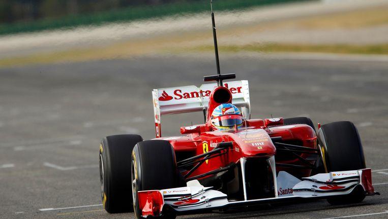 De wagen van Fernando Alonso. Beeld reuters