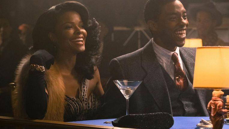 Keesha Sharp en Chadwick Boseman in Marshall, te zien tijdens Da Bounce Film Festival Beeld Barry Wetcher