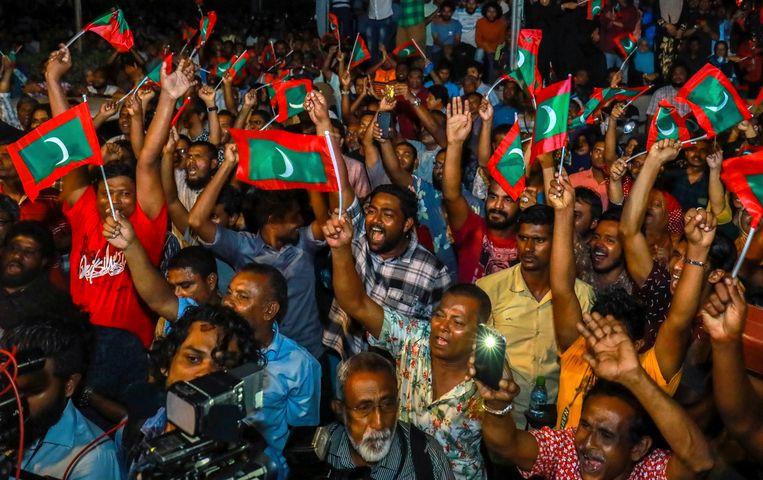 Betogers eisen de vrijlating van politici van de oppositie op 2 februari 2018.