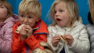 Boterhammen met fairtradechoco voor kleuters Zonnebloem